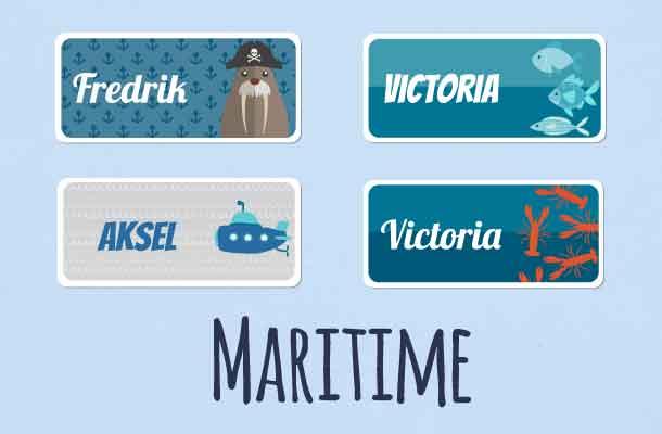 Maritime navnelapper