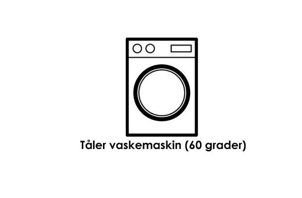 Navnelappene tåler klesvask på 60 grader